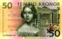 Since 1996, Jenny Lind's portrait adorns the Swedish 50-kr banknote (referring to Bellini's Norma).