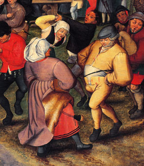 Pieter Breughel the Younger (c.1564�1637), the Flemish painter known for his pictures of peasant life as well as devils and robbers.