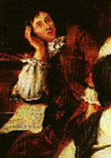 Dietrich Buxtehude (c. 1637-1707).  Detail of an oil painting by Johannes Voorhout (1674), at the Museum f�r Hamburgische Geschichte, Germany.  Source:   http://www.dacapo-records.dk/komponister/buxtehude.html.