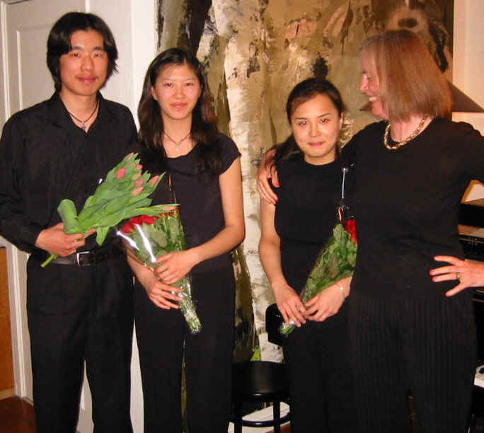 From left:  XUE Yingjia, LAN Cui, YANG Shanshan and Cecilia Jorgensen.
