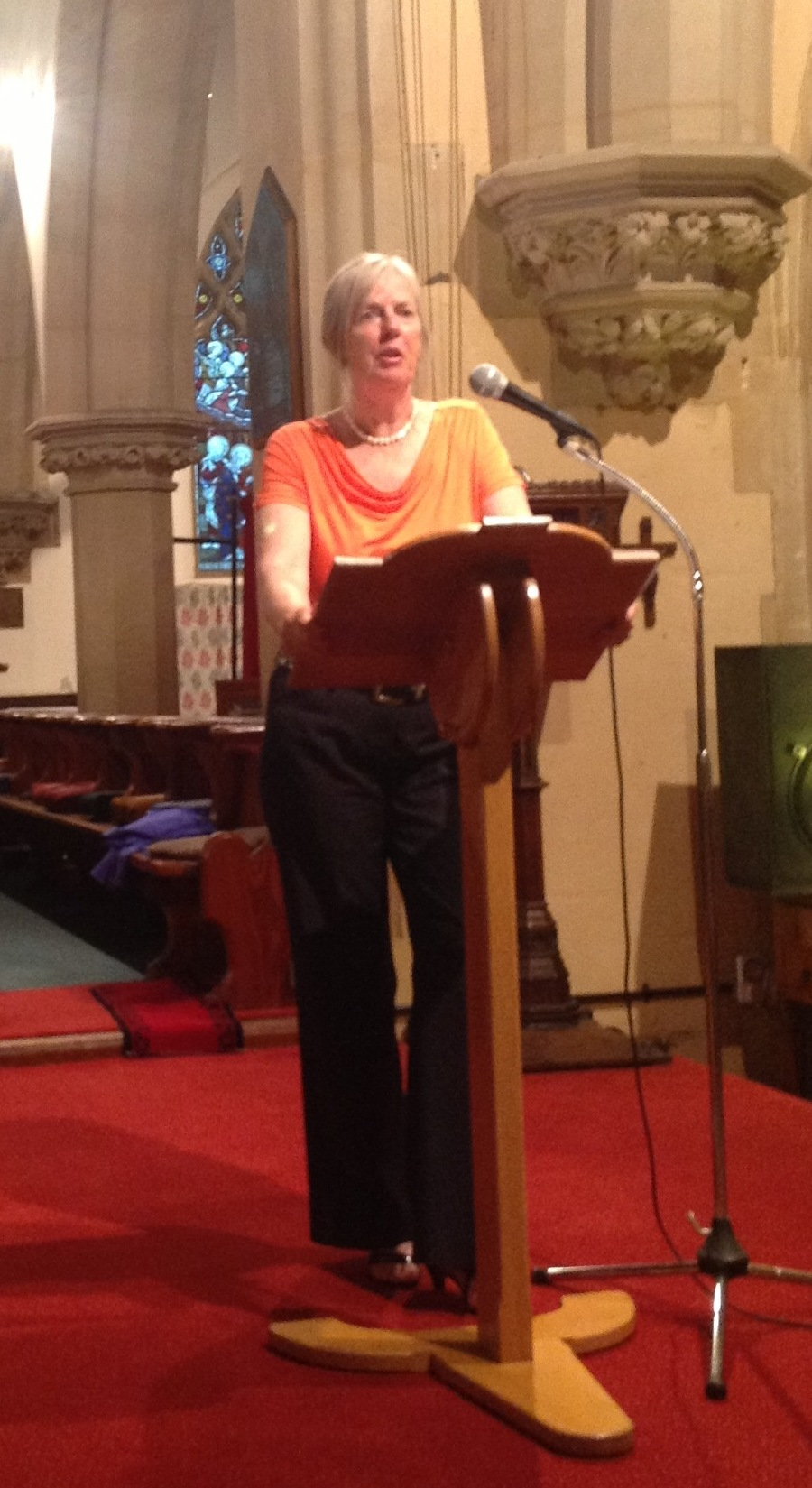 Cecilia Jorgensen narrating the Jenny Lind Gala Concert 2013 in Christ Church, Malvern, England.