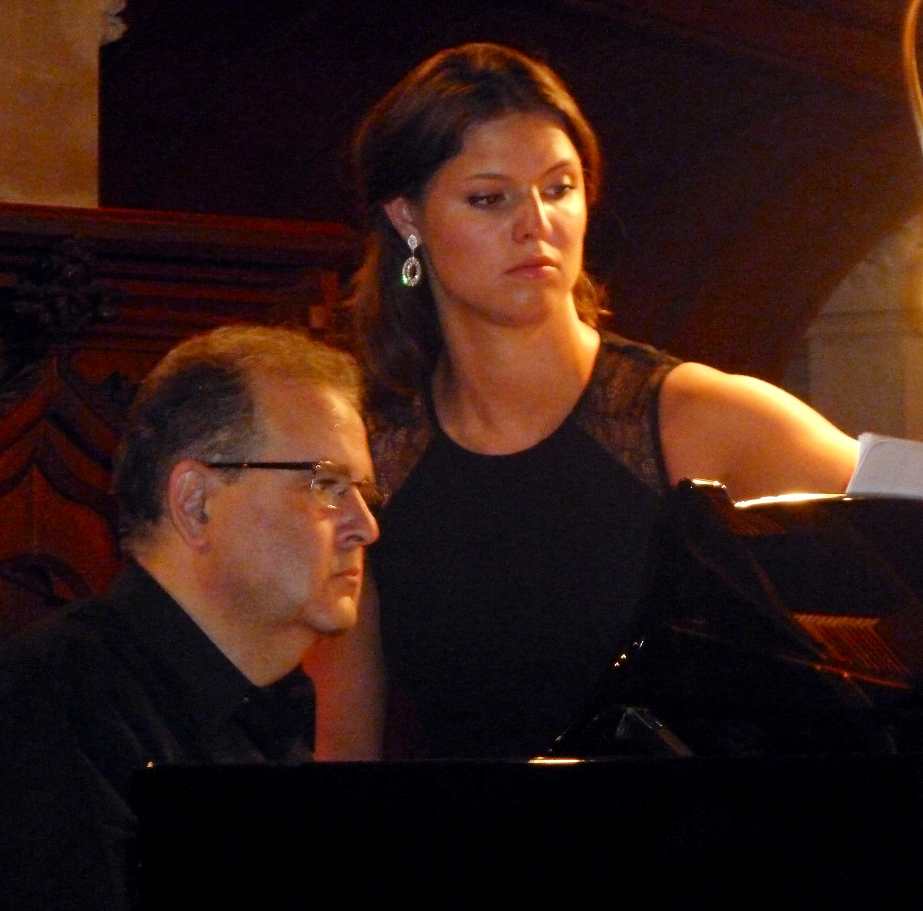"Chopin's Dream:  Daniel Blumenthal, piano and Jennifer Simpson, mezzo soprano at the Jenny Lind Gala Concert ""The Dream of Chopin"" in Malvern, UK on 13 July 2013 staged by Icons of Europe."