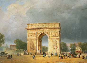 """L'Arc de Triomphe, tout pr�s de l'appartement de Chopin (74, Rue de Chaillot)"" - Icons of Europe."