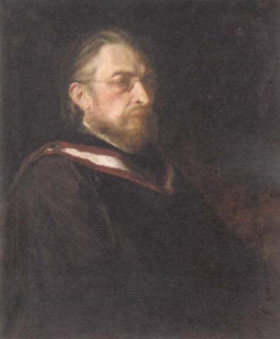Oil painting of Frederick Niecks, author of a comprehensive Chopin biography (1888).