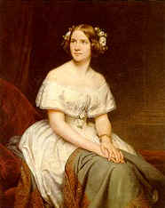 Portrait of Jenny Lind, 1846.  Oil painting replica by Eduard Magnus, 1861.  National Portrait Gallery, London.