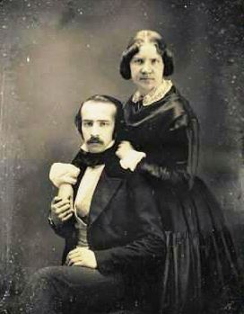 Jenny Lind (1820-1887) and her German husband Otto Goldschmidt (1829-1907).