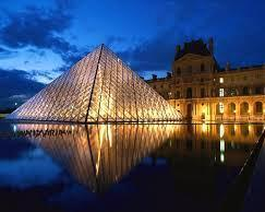 Musée du Louvre:  symbol of learning from great culture - Icons of Europe's basic theme.