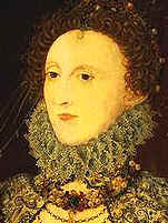 Queen Elizabeth I (1533-1603).  Shakespeare (1564-1616) was a contemporary of her.