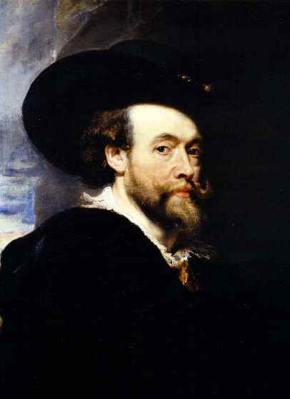 """Self-Portrait"" by Sir Peter Paul Rubens (1577-1640), at Buckingham Palace.  The Royal Collection � 2002 HM Queen Elizabeth II.  Photo by A.C. Cooper Ltd.  The image was made available to Icons of Europe by Royal Collection Enterprises, Windsor Castle, United Kingdom."