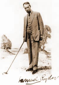 Samuel Ryder, an Englishman from St Albans in Hertfordshire, who made his fortune selling penny seed packets.   The Ryder Cup matches bear his name.