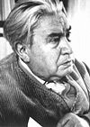 "Jaroslav Seifert (1901-1986) was born in Prague.  His first poetry collection was ""M�sto v slz�ck"" (1921, City of Tears).  Later works include ""Zhasn�te sv�tla"" (1938, Put Out The Lights), and the appearance of the post-war volume ""Pr�lba hl�ny"" (1945, A Helmet of Earth) established him as the national poet.  Seifert was awarded the Nobel Prize in Literature 1984."